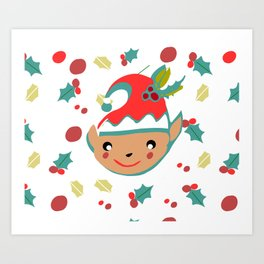 cute gnome Art Print