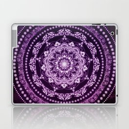 Purple Glowing Soul Mandala Laptop & iPad Skin