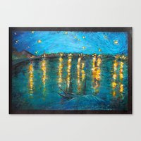 starry night Canvas Prints featuring Starry by Alice Tang
