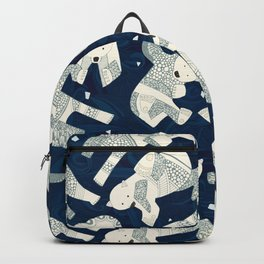 arctic polar bears midnight Backpack