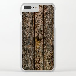 Rough Pine Planks Clear iPhone Case