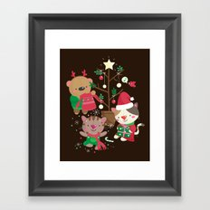 Holiday Crew Framed Art Print