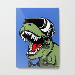 VR T-rex Metal Print