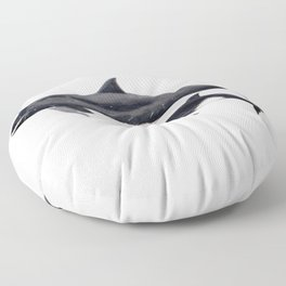 Pygmy killer whale Floor Pillow