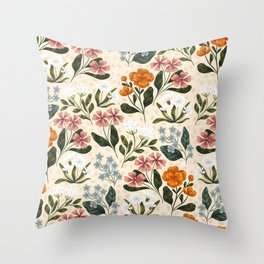 Wild Flowers ~ vol2. Throw Pillow