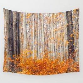orange autumn Wall Tapestry