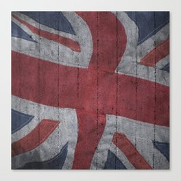 Union Jack Concrete wall Canvas Print