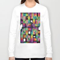 plaid Long Sleeve T-shirts featuring Puzzled Plaid by Robin Curtiss