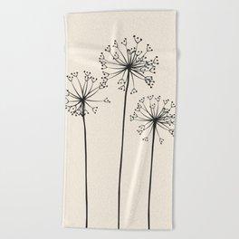 Dandelions Beach Towel