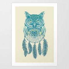 Midnight Dream Catcher Art Print