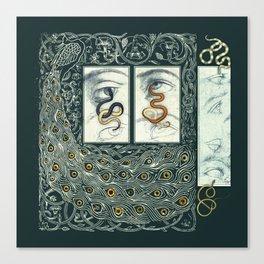 Snake Eyes :: Fine Art Collage Canvas Print
