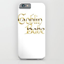 Labyrinth Goblin Babe (white bg) iPhone Case