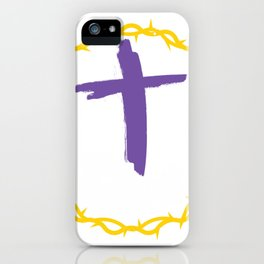 He is Risen Easter Sunday Crown of Thorns iPhone Case