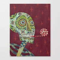 happy birthday Canvas Prints featuring Happy Birthday by Santiago Uceda