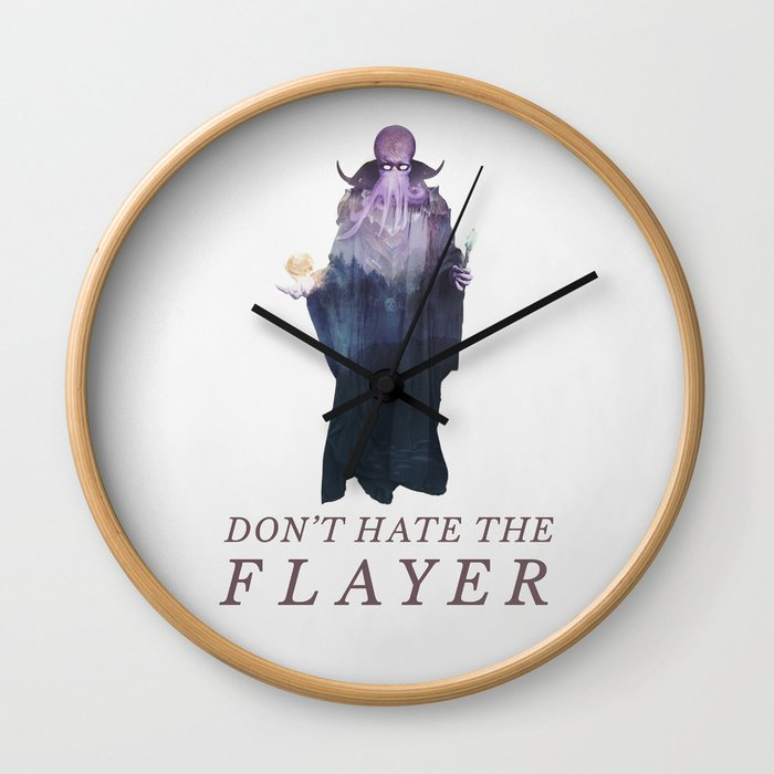 Mind Flayer (Typography) Wall Clock