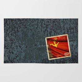 Sticker of Soviet Union (1922-1991) flag Rug