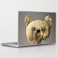hologram Laptop & iPad Skins featuring Sad Mentalembellisher Poet Teddy Bear With Hologram Eyes by mentalembellisher