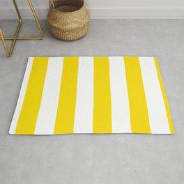Classic Cabana Stripe in Lemon Yellow + White Rug