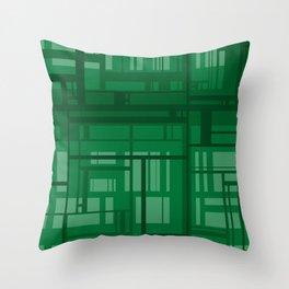 Green Maze Throw Pillow