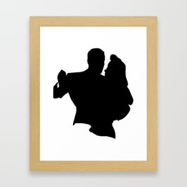 Dance with me! Framed Art Print
