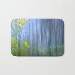 In the blue forest Bath Mat