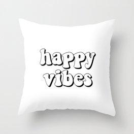 Happy Plumpy Vibes Throw Pillow