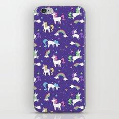 Unicorns and Rainbows - Purple iPhone & iPod Skin