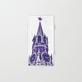 Kremlin Chimes-violet Hand & Bath Towel