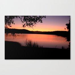 LAKE HENNESSEY - NAPA CALIFORNIA - SUNSET REFLECTION Canvas Print