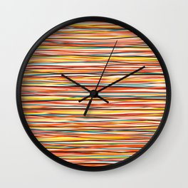 Bright Colorful Lines - Classic Abstract Minimal Retro Summer Style Stripes Wall Clock