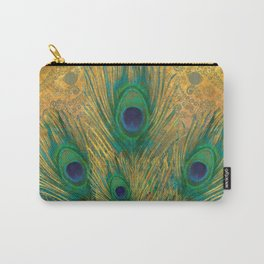 """""""Turquoise and golden peacock"""" Carry-All Pouch"""