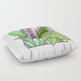 Framed Plants Floor Pillow