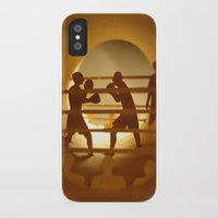 boxing iPhone & iPod Cases featuring Boxing (Boxe) by Anastassia Elias