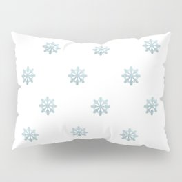 Blue Glitter Snowflake Pillow Sham