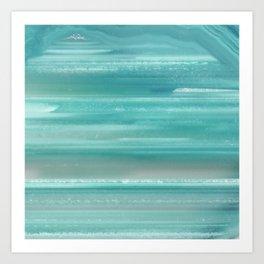 Turquoise Geode Art Print
