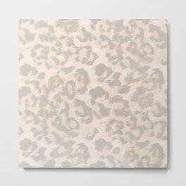 Beige leopard print . Metal Print