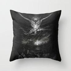 BounD Owl/Moloch  Throw Pillow