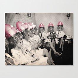Pink Hair Dryers Vintage Canvas Print