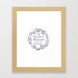 For that special Grandpa Framed Art Print