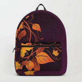 Maroon Autumn Leaves Backpack