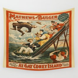 Vintage poster - Coney Island Wall Tapestry