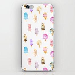 Dolce vita || watercolor ice cream summer pattern iPhone Skin