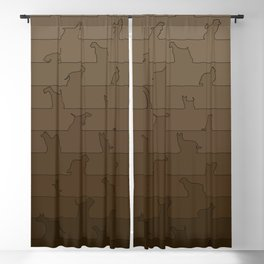 Brown Dog Ombre Blackout Curtain