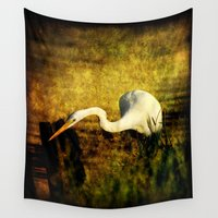 fishing Wall Tapestries featuring Fishing by JMcCool