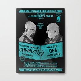 Breaking bad poster Heisenberg VS DEA (Hank) Metal Print