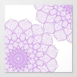 Purple Mandala design, Mandala gift, Simple design Canvas Print