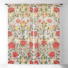Tudor Rose by William Morris 1883 Antique Vintage Pattern CC0 Spring Summer Blackout Curtain