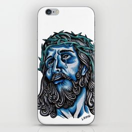 The Blue Jesus  iPhone Skin