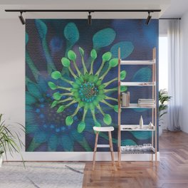 Passion Flower Watercolor Wall Mural