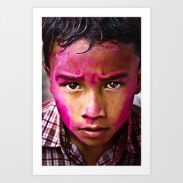 Holi Festival of Colour Art Print